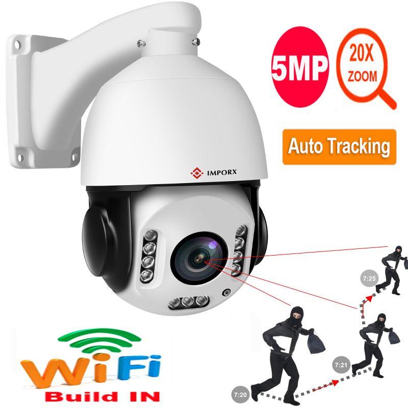 Super HD 5MP PTZ IP Kamera Outdoor Onvif 20X ZOOM Auto Tracking Mini Speed Dome Kamera H.265 IR 150M p2P CCTV Sicherheit Kamera