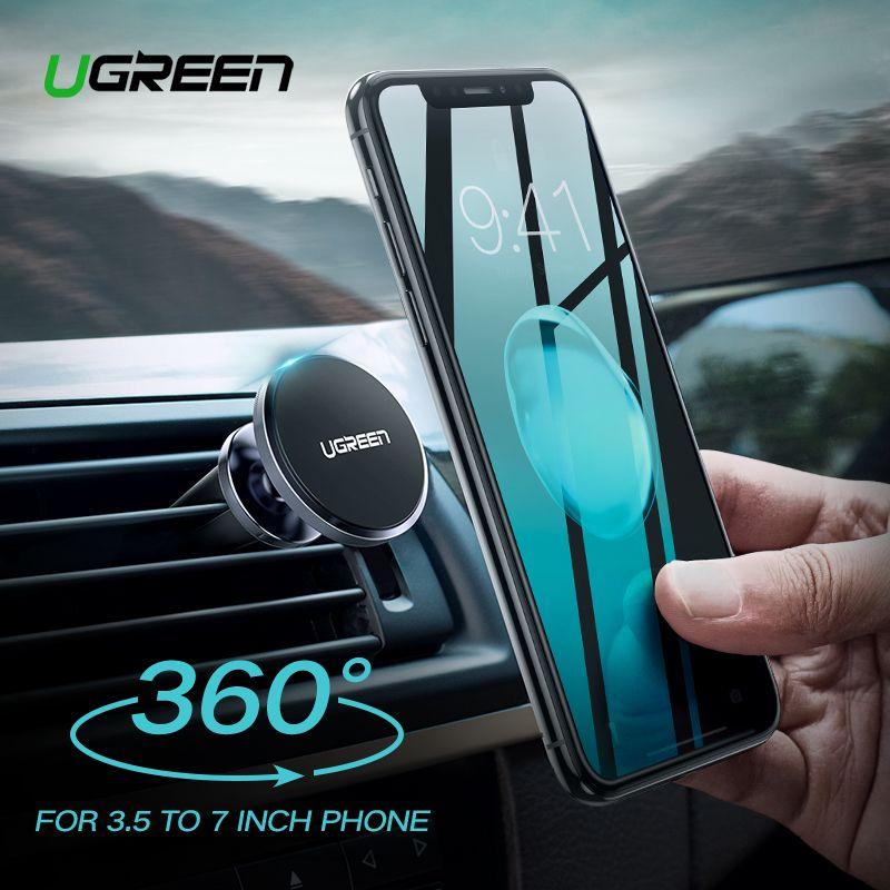 Support pour téléphone de voiture Ugreen pour téléphone dans la voiture Support de téléphone magnétique pour iPhone X Support de Support magnétique de Smartphone Mobile