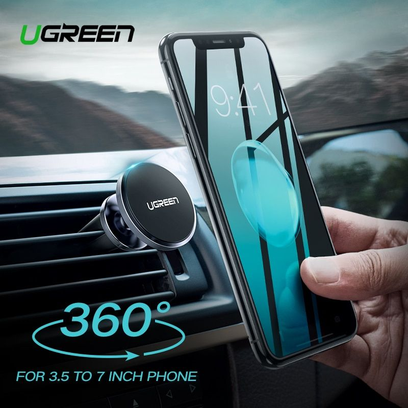 Ugreen Car Phone Holder for Phone In Car Magnetic Phone Mount Holder for iPhone X Mobile Smartphone Support Magnet Holder Stand