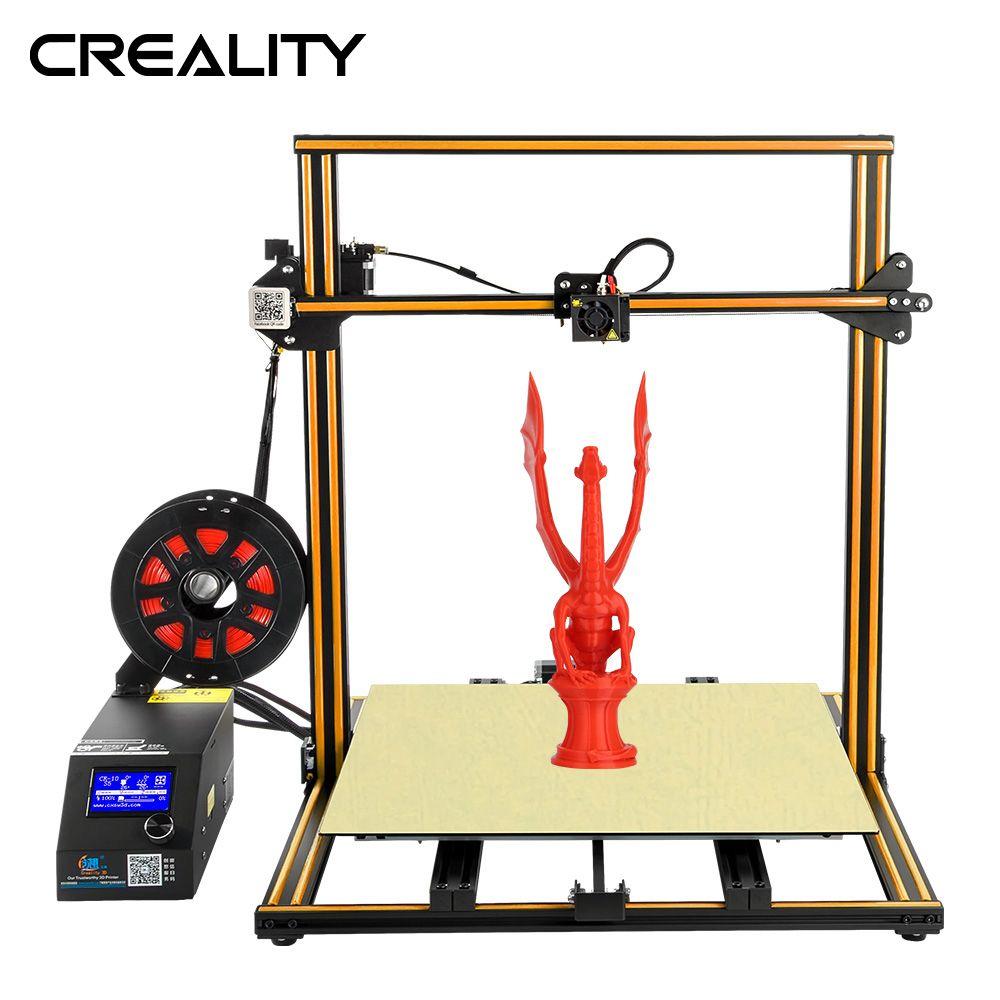 Voll Metall Plus größe Creality 3D Drucker CR-10 S5 Mit Dua Z Stange Filament Sensor Erkennen Lebenslauf Power Off
