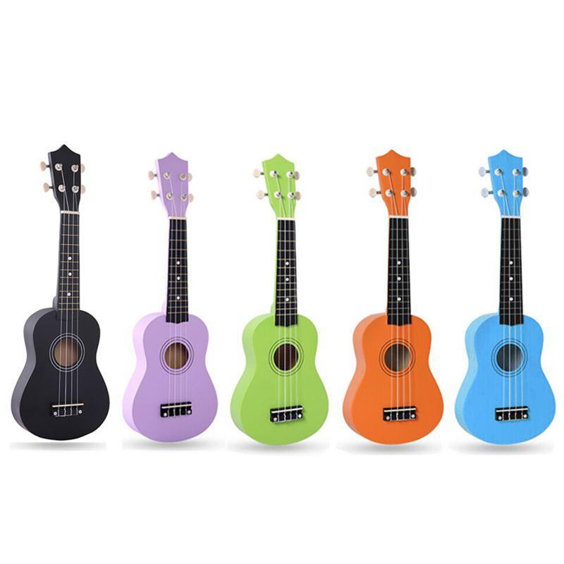 21 pouces IRIN 12 frettes couleur Pure tilleul ukulélé ton lumineux 4 cordes Hawaii guitare Instruments de musique pour débutants