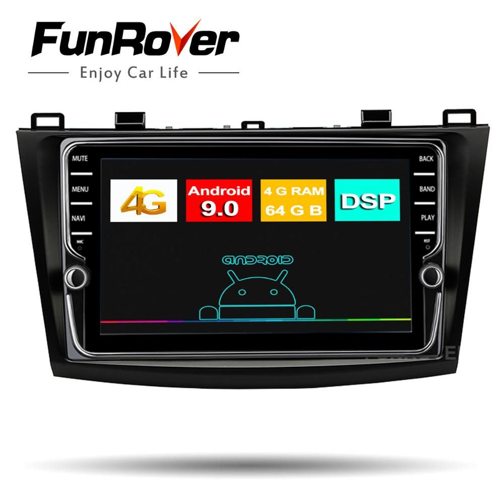 Funrover android 9.0 2 din auto dvd-multimedia-player Für Mazda 3 Axela 2009-2012 radio gps navigation stereo system DSP 64GB RDS
