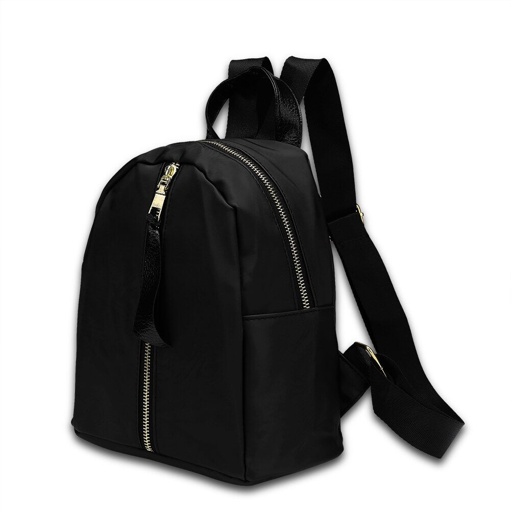 Haute qualité sac à dos sacs d'école pour adolescents décontracté noir Trave sac à dos femmes Ozuko