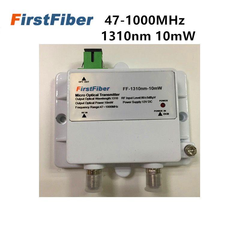 10mW Micro Optische Sender FTTH 12V CATV Mini Micro Sender 47-1000MHZ 1310nm Optische faser mit SC/APC