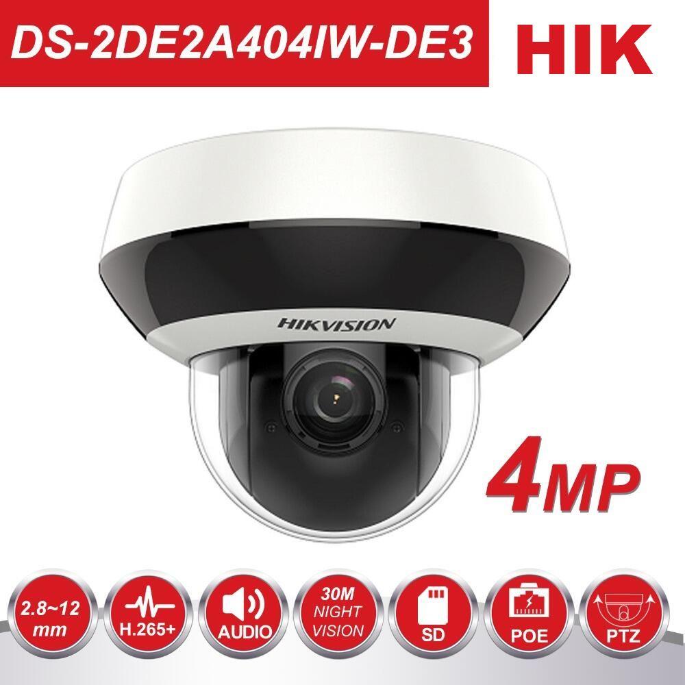 Hikvision PTZ IP Kamera H.265 DS-2DE2A404IW-DE3 4MP 4X Zoom 2,8-12mm objektiv Netzwerk Video Überwachung POE Dome CCTV kamera Audio