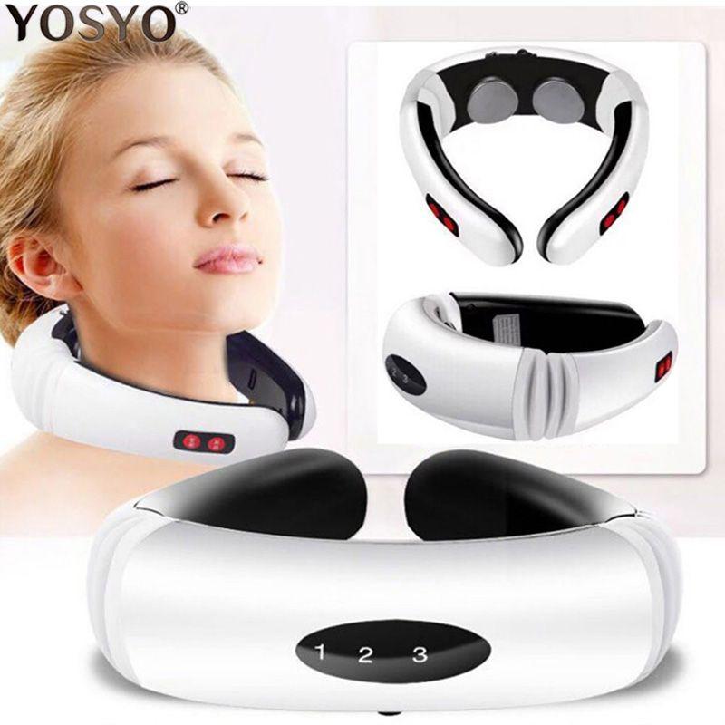 Impulsion électrique dos et cou masseur infrarouge lointain chauffage soulagement de la douleur outil soins de santé Relaxation