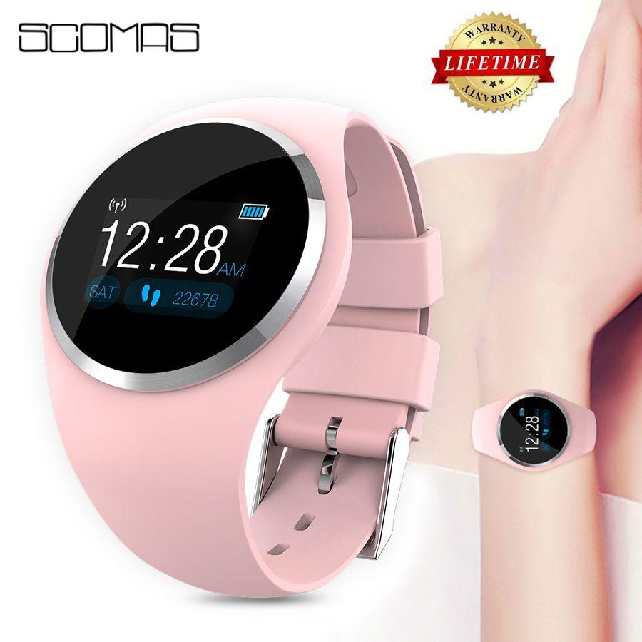 SCOMAS 2019 mise à niveau de la mode montre intelligente HR moniteur de pression artérielle femmes rappel physiologique Smartwatch pour Android IOS