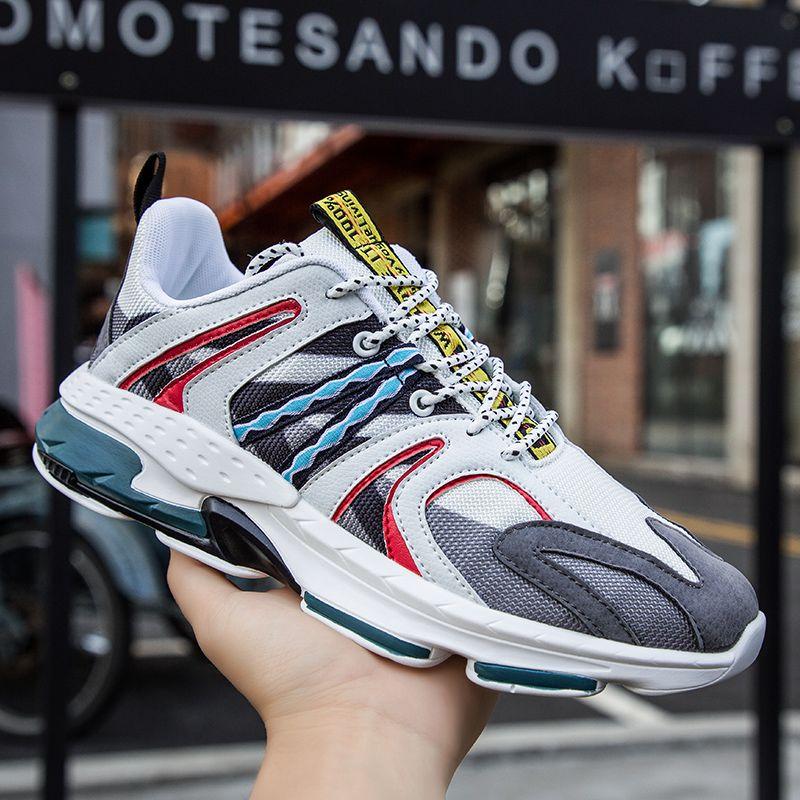 2019 hommes chaussures décontractées Ins marque baskets pour hommes lumière extérieure maille homme mode baskets vulcanisé chaussures homme Zapatillas Mujer