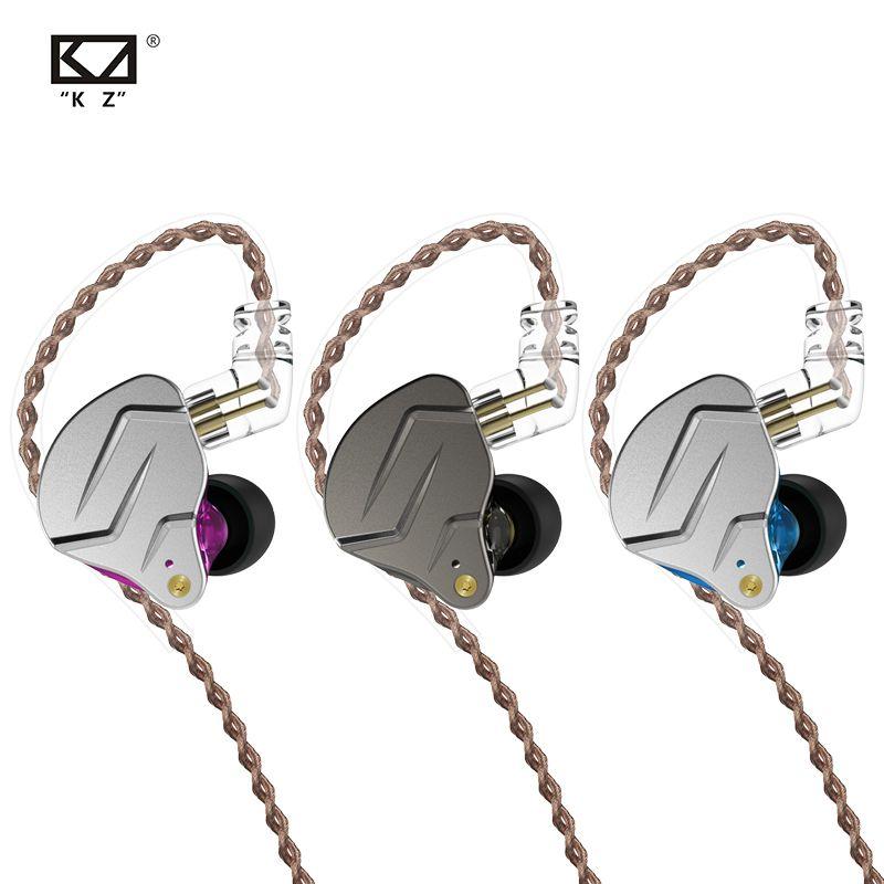 Kz Zsn Pro In Ohr Monitor Kopfhörer Metall Kopfhörer Hybrid Technologie Hifi Bass Ohrhörer Sport Noise Cancelling Headset 2 Pin