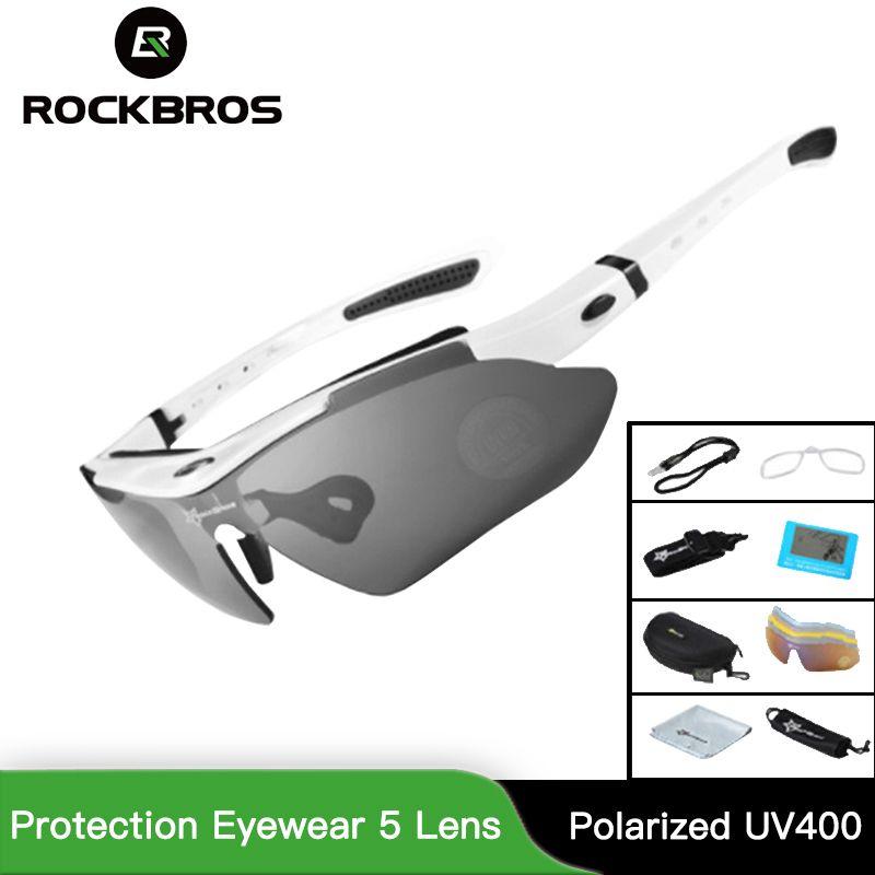 RockBros Polarized Cycling Sun Glasses Outdoor Sports Bicycle Glasses Men Women Bike Sunglasses 29g Protection Eyewear 5 Lens