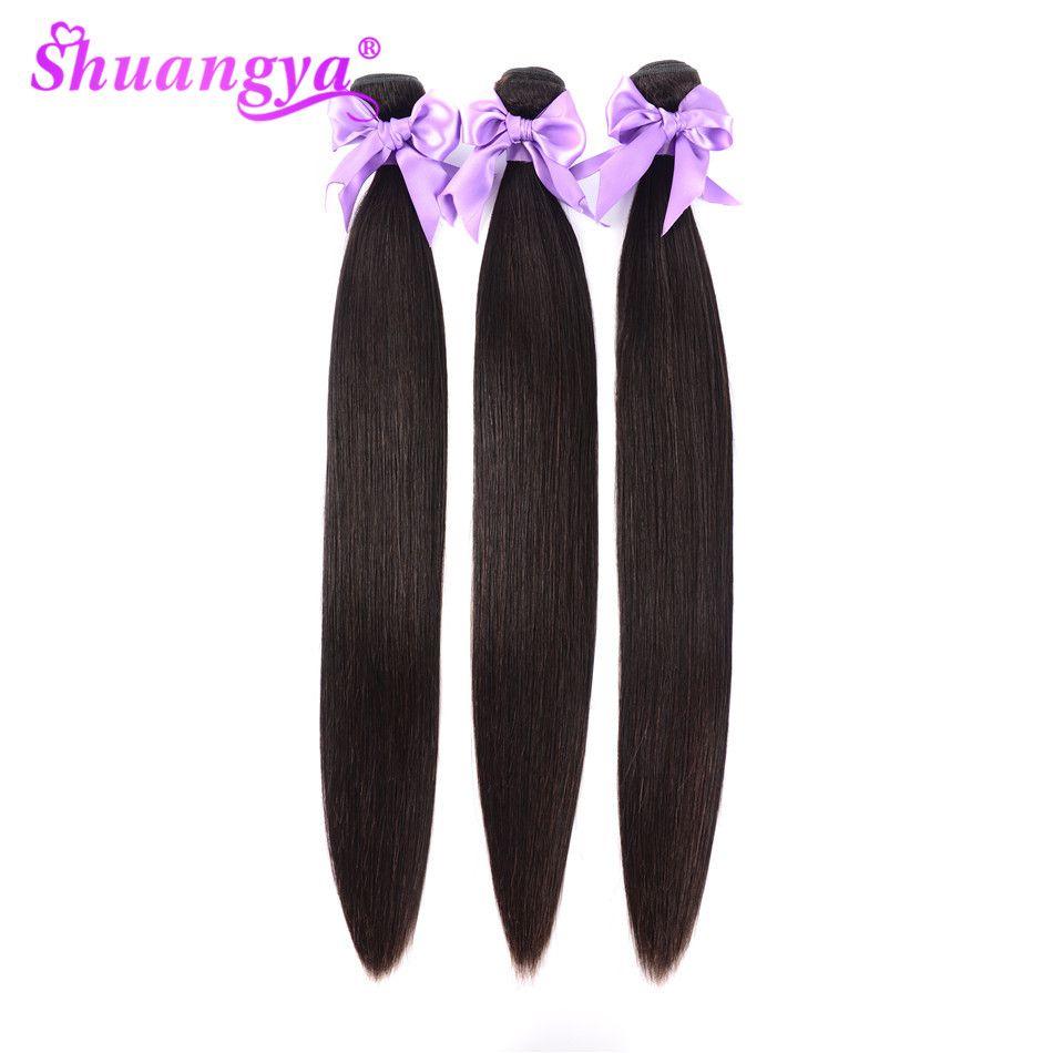 Shuangya Cheveux Brésiliens Cheveux Raides Faisceaux 1/3 Ou 4 pièces Faisceaux De Cheveux Humains 8-28 Pouces Extension De Cheveux Remy Cheveux Armure Faisceaux