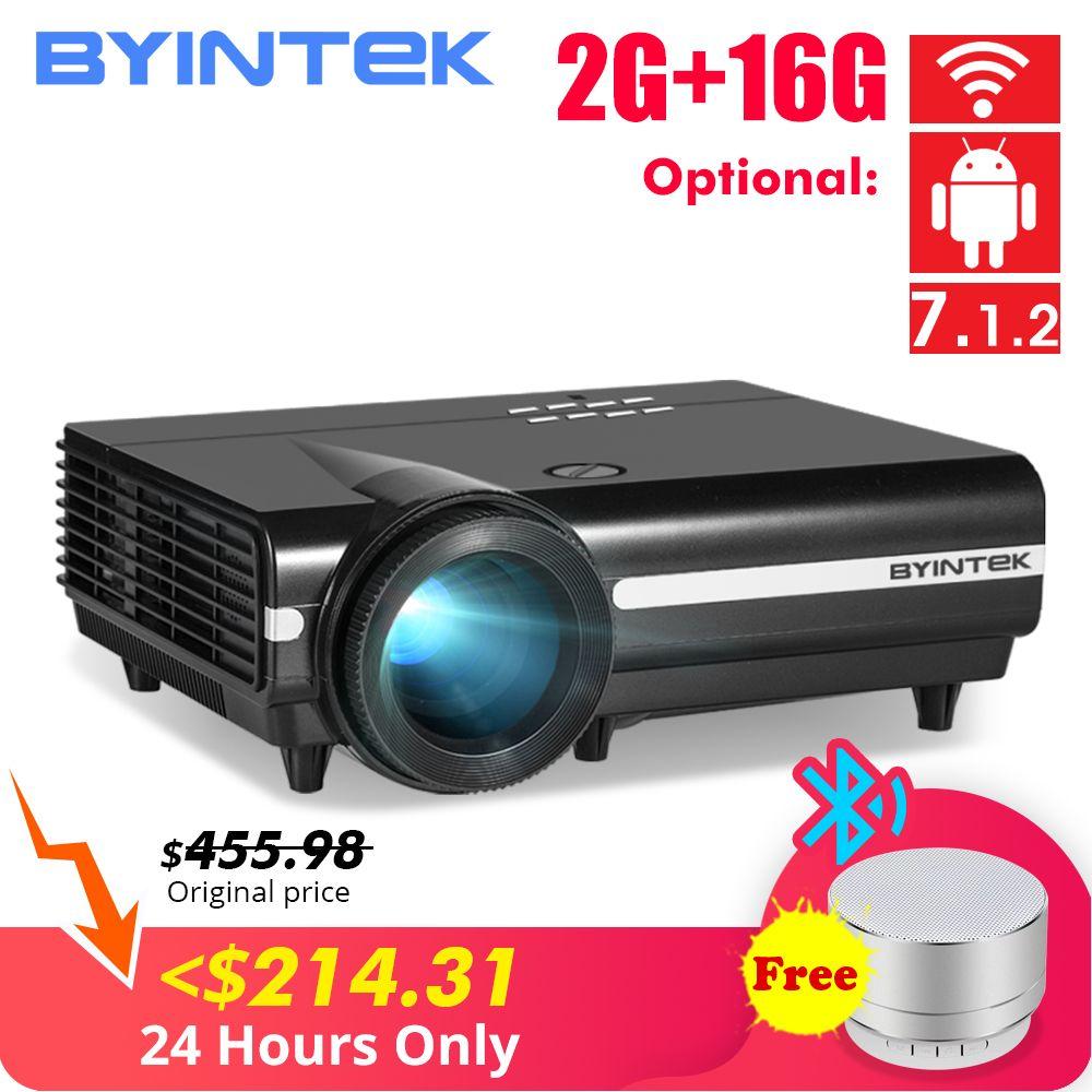 BYINTEK MOON BT96Plus Android Wifi vidéo intelligente 1080P projecteur LED pour le cinéma maison Full HD soutien 4K vidéo pour Netflix