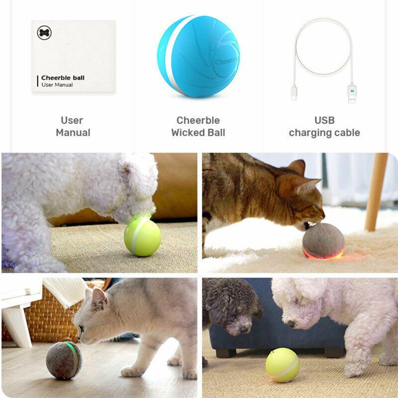2019 plus récent USB Pet chien chat sautant Activation balle lumière LED clignotant balle rebondissante chiot jouet 3 couleurs en option