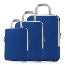 Gonex 3 unids/set bolsa de almacenamiento de viaje maleta organizador de equipaje colgante Ziplock ropa de compresión cubos de embalaje regalo de novio
