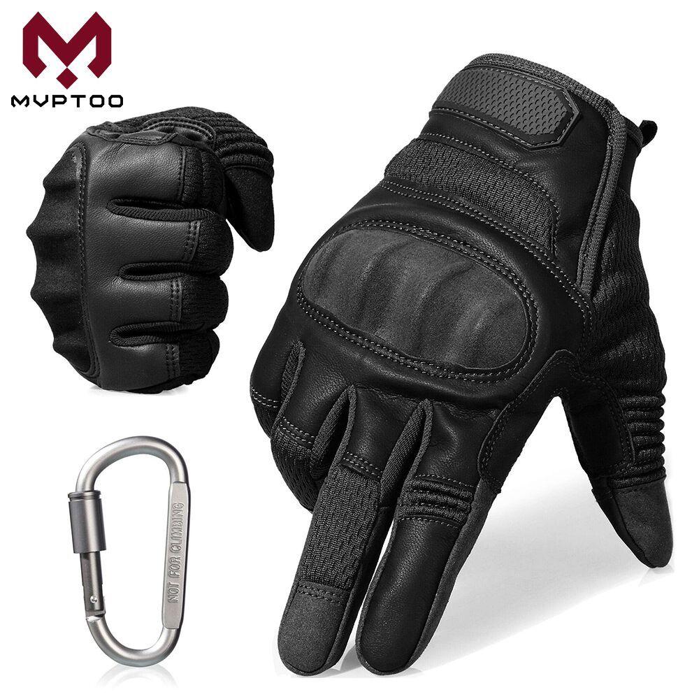 Touch Screen Motorcycle Gloves Moto Motorbike Motocross PU Leather Protective Gear Hard Knuckle Biker Full Finger Glove Men ATV