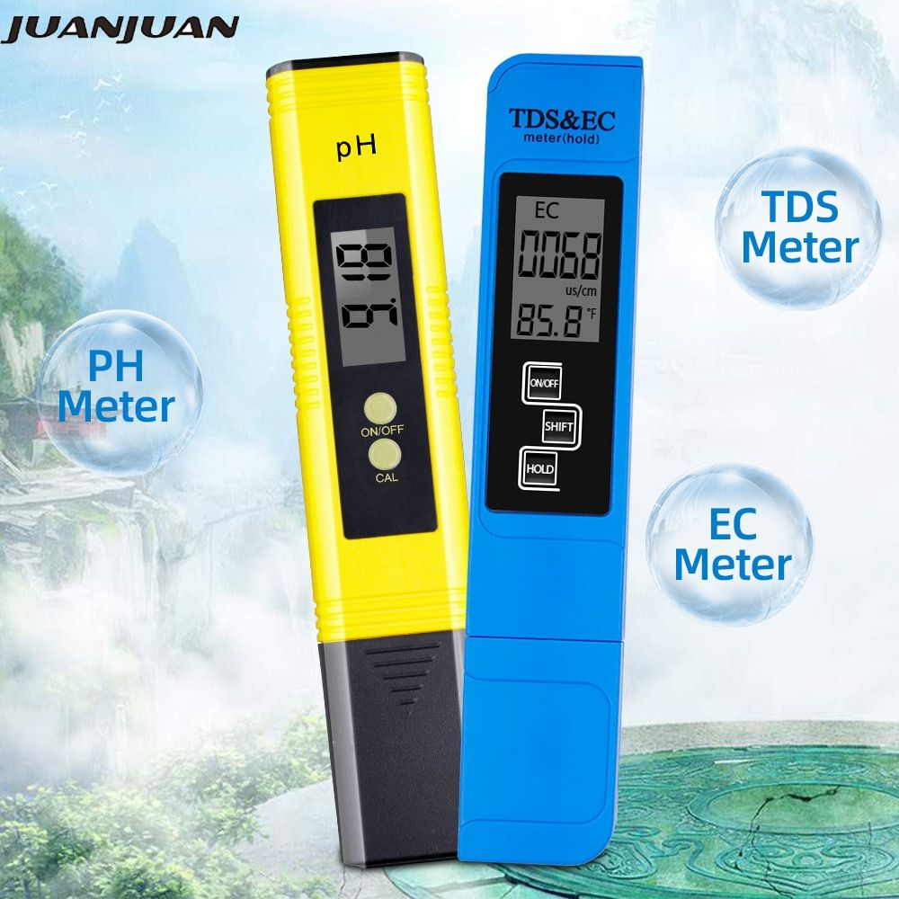 2 pièces numérique 0.0-14.0 PH mètre testeur 0-9990ppm numérique TDS EC LCD pureté de l'eau PPM Aquarium filtre 28% off