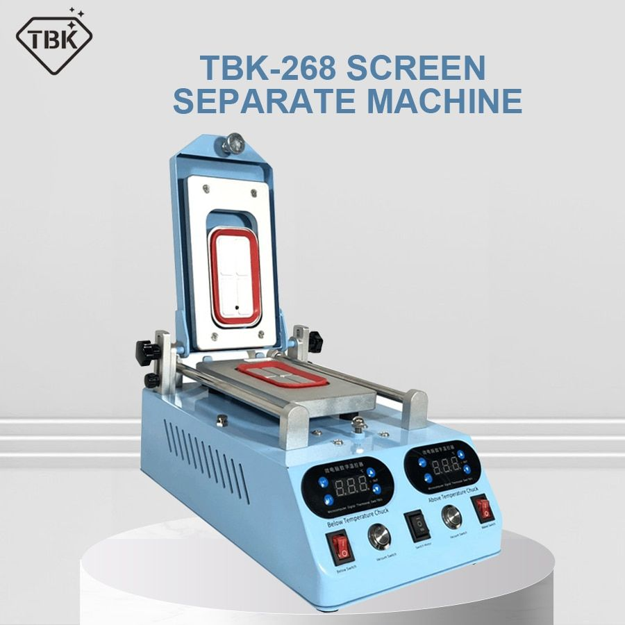 Echtes TBK-268 Separator Maschine Automatische LCD Screen Rahmen Lünette Heizung Für Wohnung Curved Screen Glas Mitte Rahmen Separaten