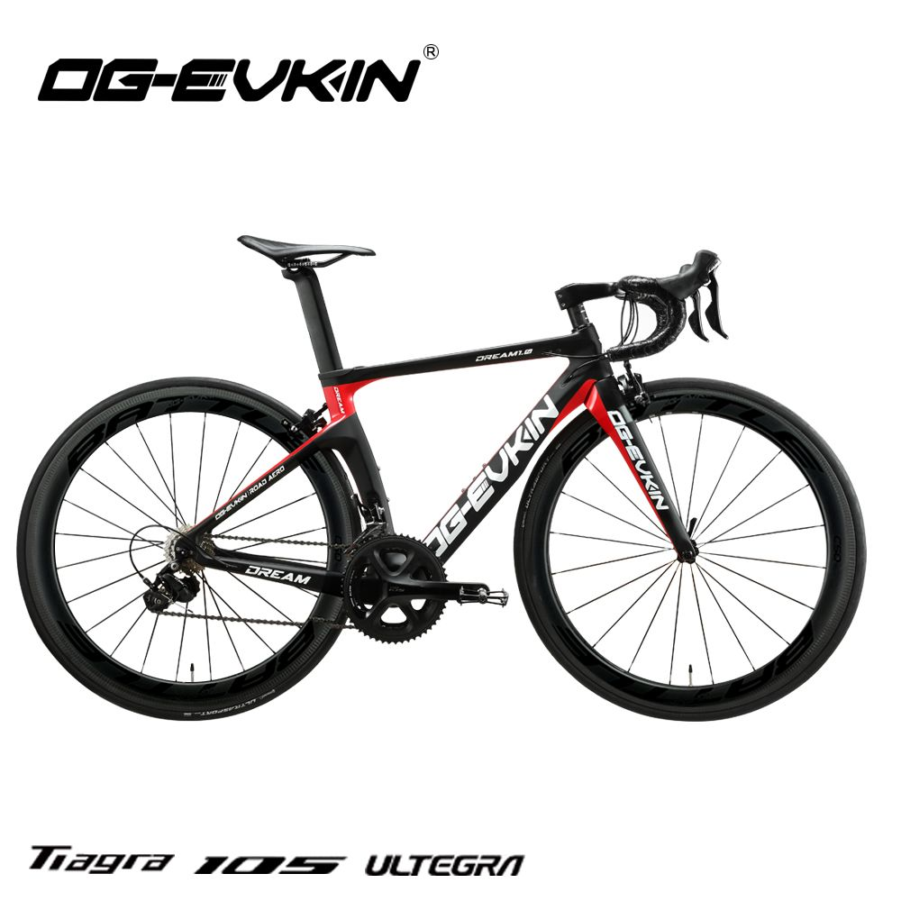 OG-EVKIN CB-024 Carbon Komplette Rennrad Racing Bike Fahrräder Licht Gewicht 22 Geschwindigkeit 700C BICICLETA Ciclismo Mit Shiman0 105