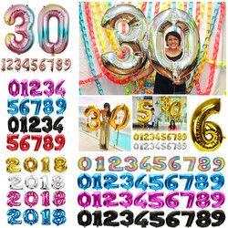 32 дюйма Фольга воздушные шары цвета: золотистый, серебристый воздушный шар с гелием на свадьбу с днем рождения воздушные шарики для украшен...