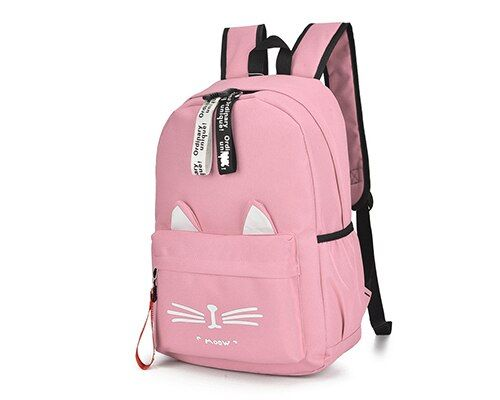 Cute Cartoon Cat Ears Backpack Girl Schoolbag for Teenage Women Back Pack Nylon School Backpack Famale Teen Bag pack
