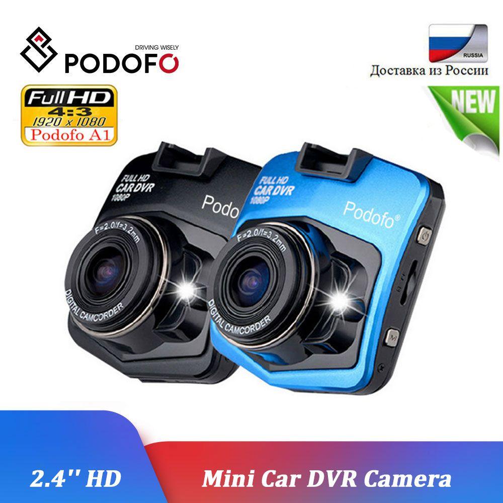 Podofo A1 voiture DVR Dashcam Full HD 1080P enregistreur vidéo enregistreur Vision nocturne g-sensor voiture caméscope Mini DVRs Dash Cam caméra