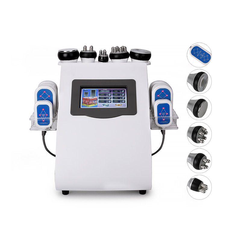 2019 neueste 6 in 1 Lipo Laser + Kavitation + RF + Vakuum/RF 40K Kavitation Vakuum Lipolaser abnehmen körper gewicht verlust Maschine