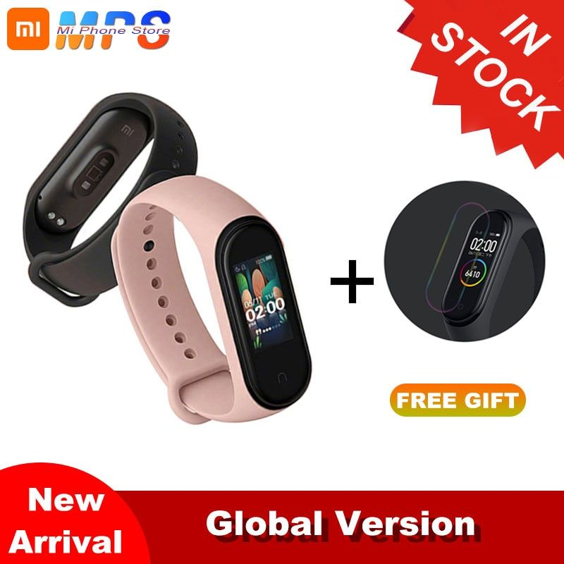 In Stock Newest Xiaomi Mi Band 4 Bracelet Heart Rate Fitness Bluetooth 5.0 Color Screen 135mAh 50M Swimming Waterproof