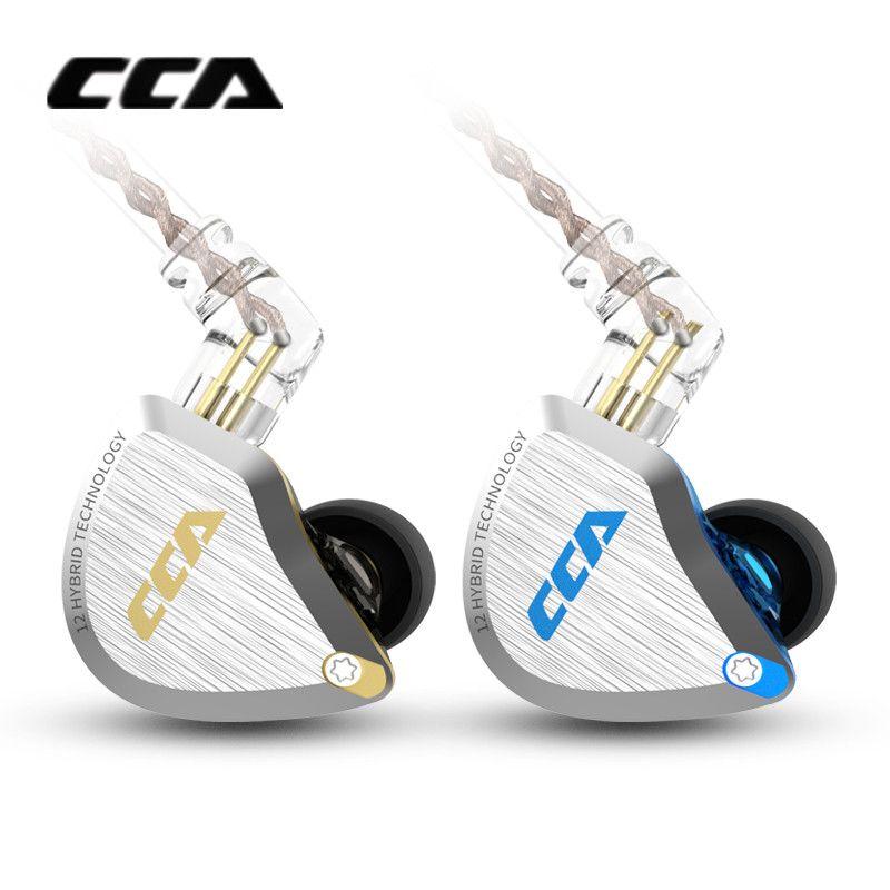 CCA C12 1DD + 5BA Hybrid In-ohr Kopfhörer HIFI Metall Headset Musik Sport ZS10 PRO AS12 AS16 ZSX C16 C10 a10 V90 DMS DMG ZST V80
