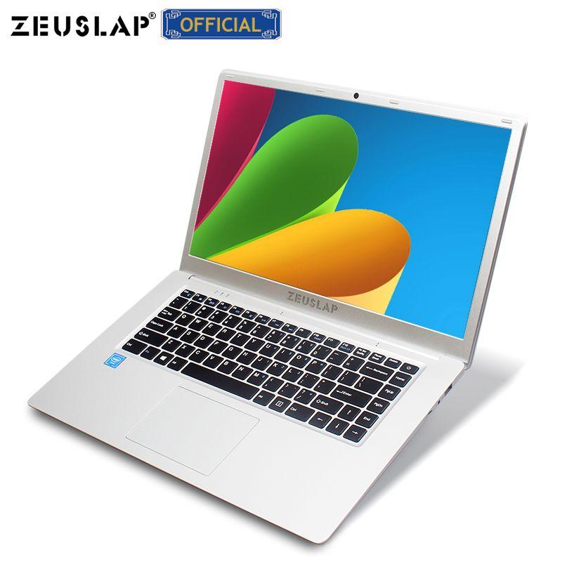 ZEUSLAP 15,6 zoll Intel Quad Core CPU 4GB Ram 64GB EMMC Windows 10 System 1920*1080P FHD bildschirm Netbook Laptop Notebook Computer