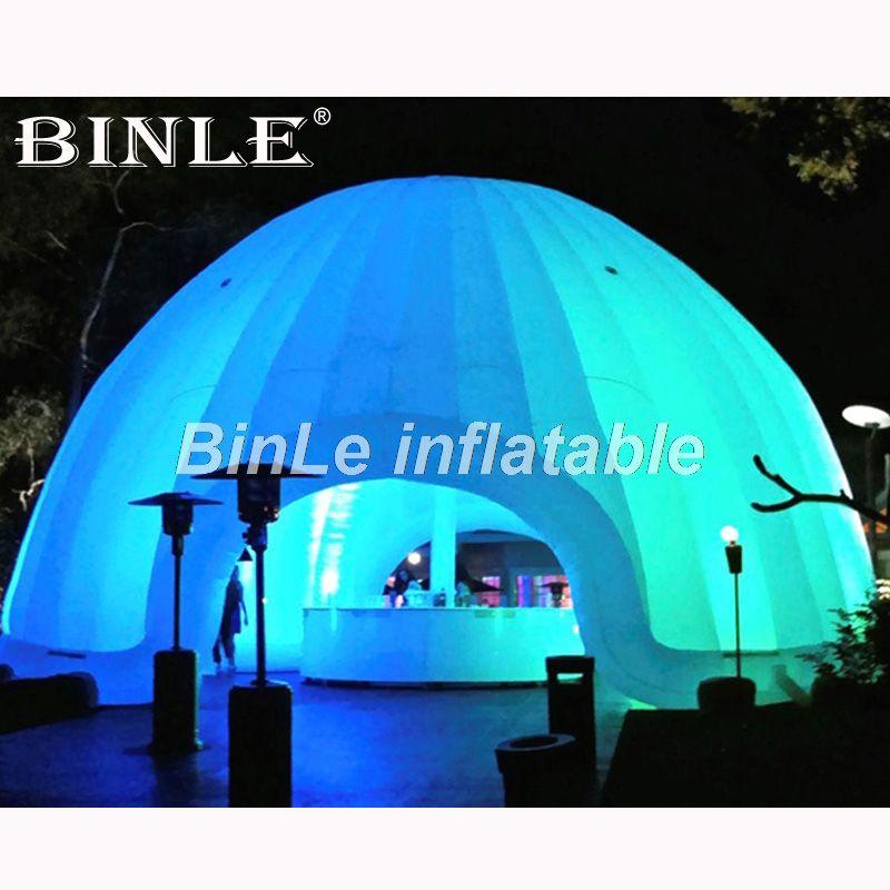 Angepasst weiß air aufblasbare kuppel zelt mit led beleuchtung circus zelt riesigen hochzeit festzelt iglu party zelt für veranstaltungen