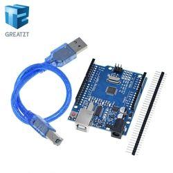 GREATZT high quality One set UNO R3 (CH340G) MEGA328P for Arduino UNO R3 ATMEGA328P-AU Development board