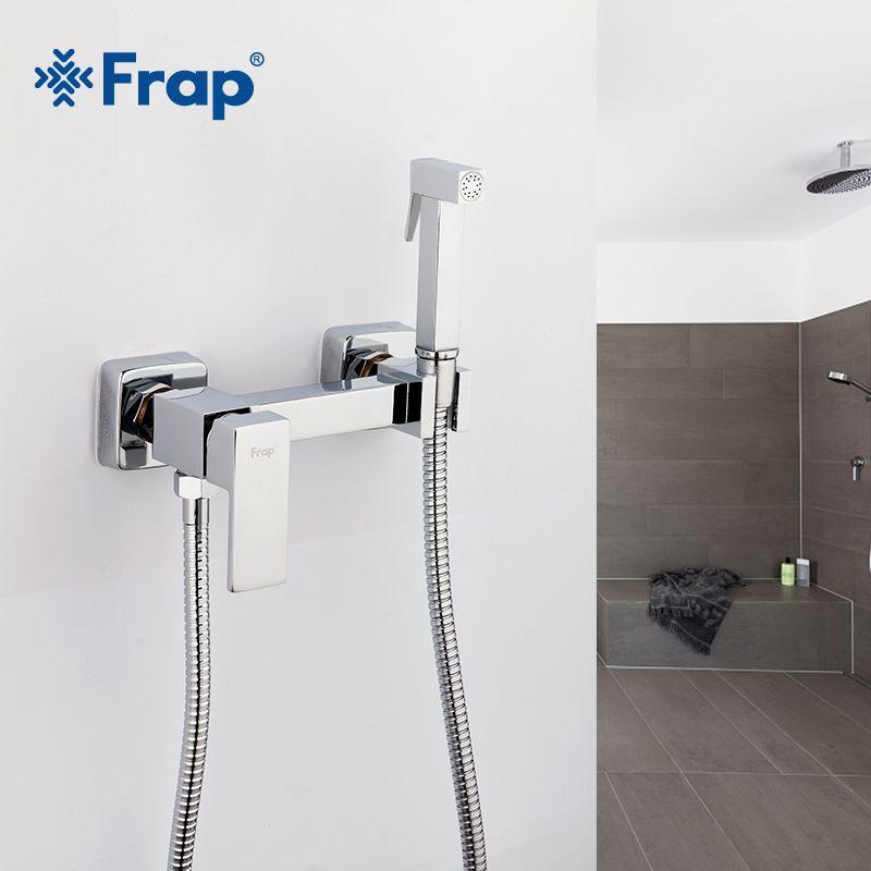 Frap 6 styles en laiton unique froid et froid eau chaude coin Valve Bidet robinets fonction carré main douche tête robinet grue pour femme