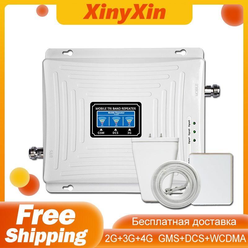 Signal Booster GSM Repeater 2G 3G 4G Verstärker Handy 900 DCS LTE 1800 WCDMA 2100 Tri band Handy Cellular Booster