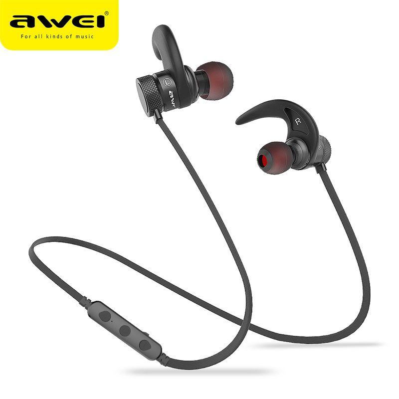 AWEI A920BLS Bluetooth écouteur sans fil Casque basse Sport Bluetooth Casque Auriculares Casque sans fil 10h musique