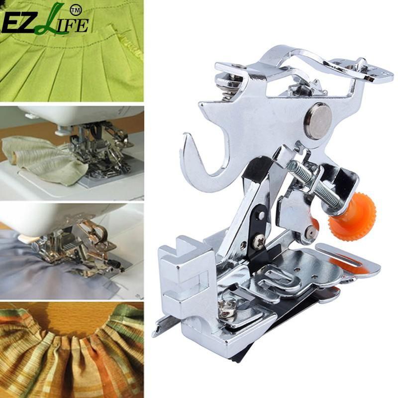 Machine à coudre ménage Ruffler pied-de-biche tige basse accessoire plissé pied-de-biche accessoires de Machine à coudre DJ0477