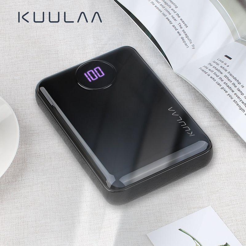 KUULAA batterie externe 10000mAh Portable chargeur rapide 10000 double USB mi ni chargeur de batterie externe pour Xiao mi appauvrbank