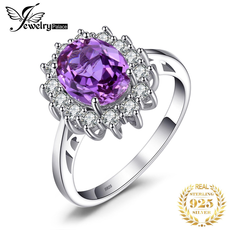 JPal princesse a créé Alexandrite bague saphir 925 bague en argent Sterling pour les femmes bague de fiançailles en argent 925 pierres précieuses bijoux