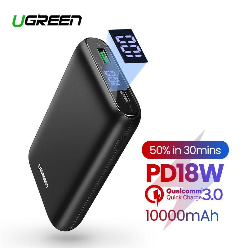 Ugreen 10000mAh PD QC3.0 batterie externe chargeur de batterie externe pour iPhone 11 chargeur Portable téléphone Portable
