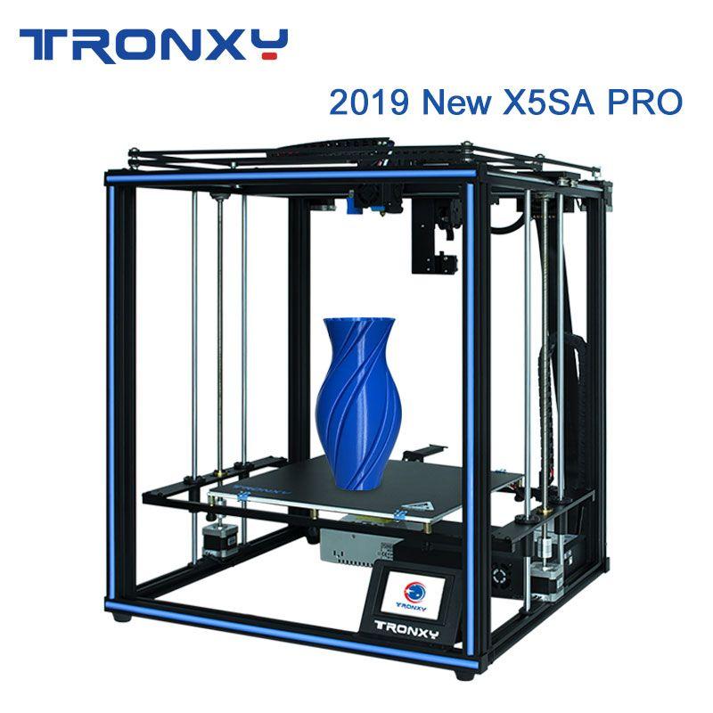 Tronxy Neueste Verbesserte X5SA PRO 3D Drucker CoreXY DIY OSG Doppel Achse Externe Führungsschiene und Titan Extruder Flexible Material