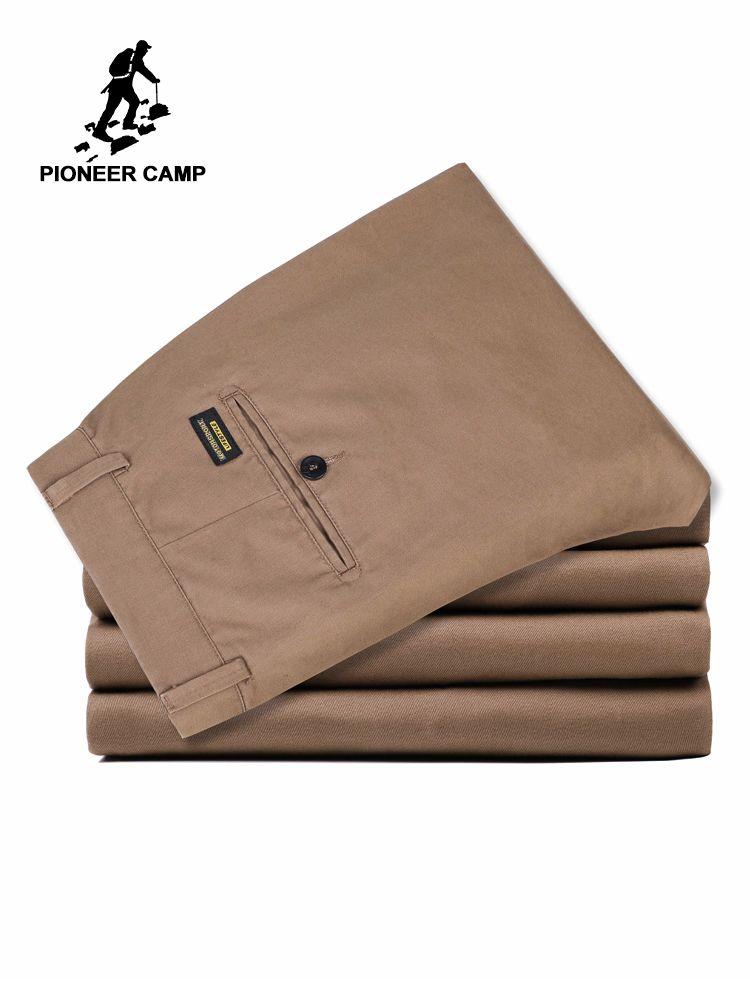 Pioneer Camp 2019 pantalons décontractés hommes marque vêtements de haute qualité automne Long kaki pantalon élastique grande taille homme pantalon AXX902191