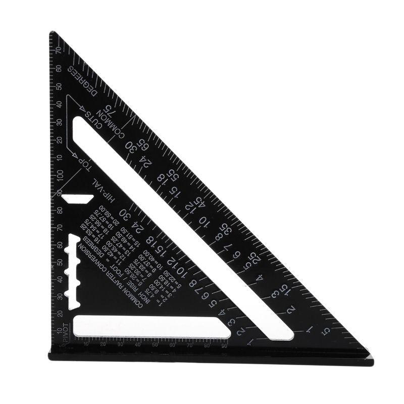 Support de livraison directe de rapporteur d'angle de Triangle de toiture carrée de vitesse d'alliage d'aluminium métrique de 7 pouces