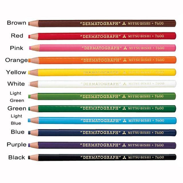 4 stücke Lapis Mitsubishi Mikropigmentation Bleistift Schwarz Weiß Kaffee Braun Mitsubishi Dermatograph 7600 Bleistifte für Augenbraue Make-Up