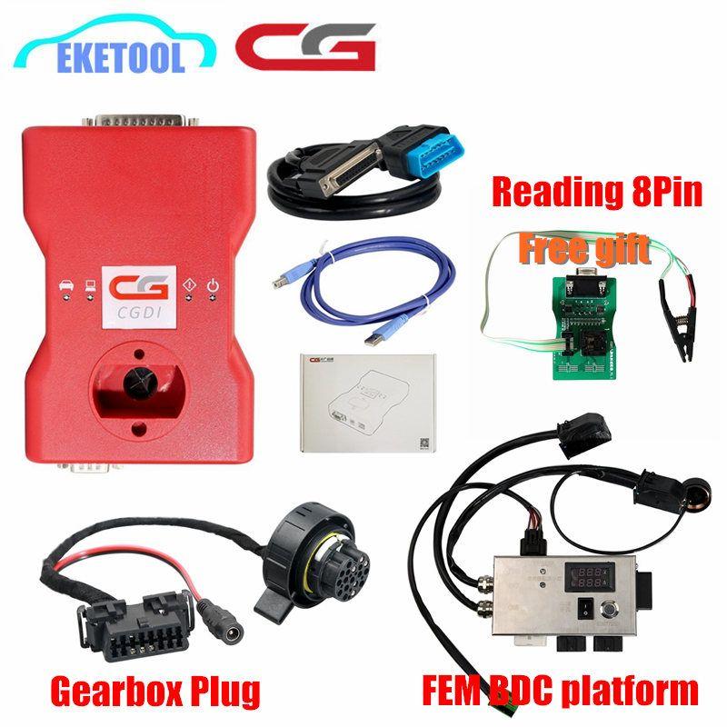 CGDI Für BMW MSV80 Artefakt Kostenloser 8 Pin Chip Adapter Schlüssel Programmierer + Diagnose Werkzeug + IMMO Sicherheit 3 IN 1 CGDI Prog Für BMW
