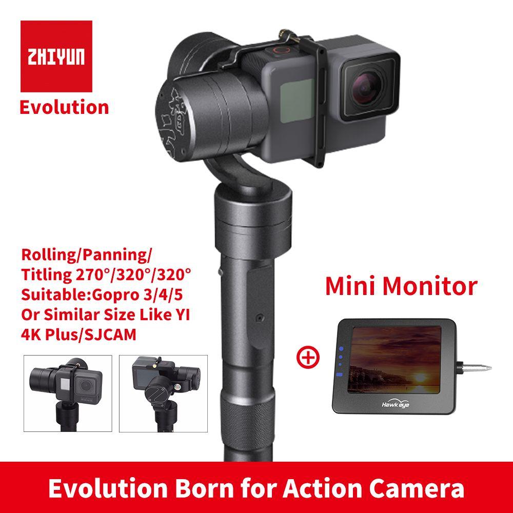 Zhiyun Z1 EVOLUTION 3 axes cardan sans brosse 320 degrés stabilisateur de cardan portable mobile pour caméras d'action GoPro sjcam YI