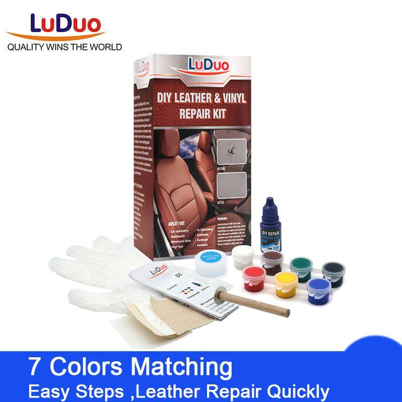 LuDuo liquide cuir vinyle Kit de réparation restaurateur meubles sièges de voiture canapé veste sac à main ceinture chaussures nettoyant peau réparation peinture soin