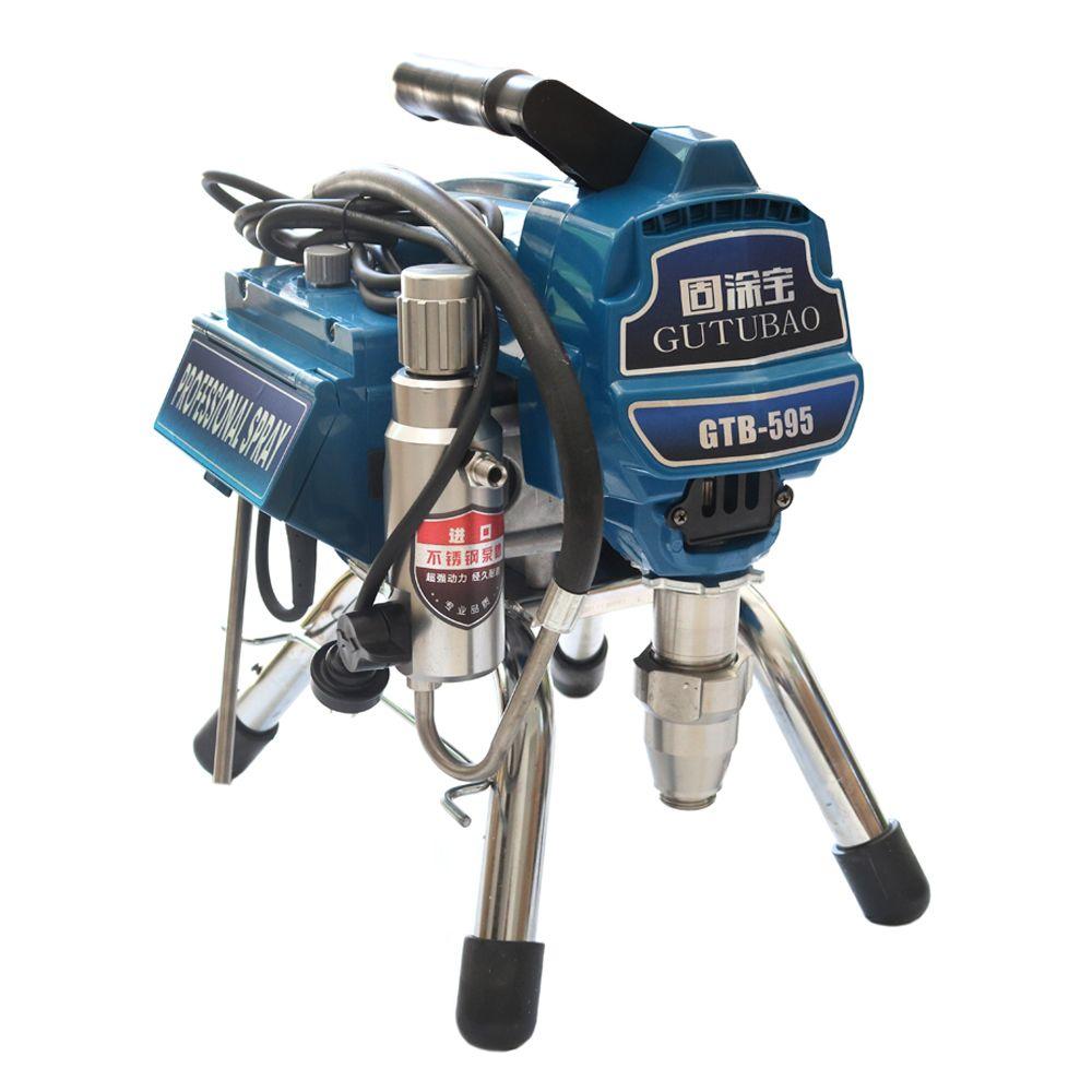 Professionelle airless spritzen maschine mit bürstenlosen Motor Spray Gun 2600W 2.8L Airless Farbe Sprayer 595 malerei maschine werkzeug