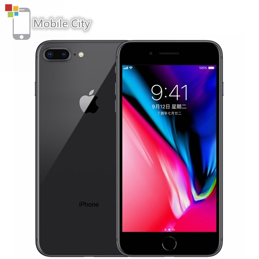Original Entsperrt Apple iPhone 8 Plus Handy 64/256GB ROM 5,5 inch 12MP Kamera Fingerprint Hexa- core iOS 4G LTE Smartphone