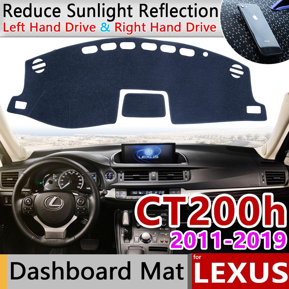 Für Lexus CT200h 2011 ~ 2019 CT 200 200h F Sport Anti-Slip Matte Dashboard Abdeckung Pad Sonnenschirm dashmat Teppich Zubehör 2013 2014