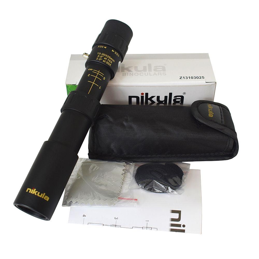 Jumelles d'origine Nikula 10-30x25 Zoom monoculaire haute qualité télescope poche Binoculo chasse prisme optique portée pas de trépied