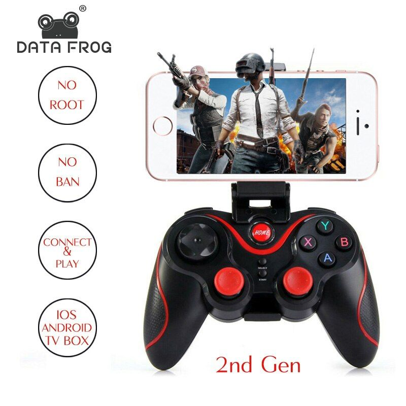 Manette de contrôleur de jeu sans fil de grenouille de données avec OTG pour le Gamepad de PC universel pour la tablette de boîte de TV d'android pour le téléphone portable à distance